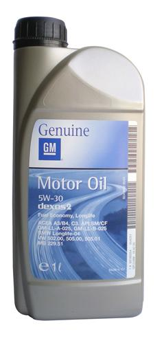 General Motors MOTOR OIL DEXOS 2 .
